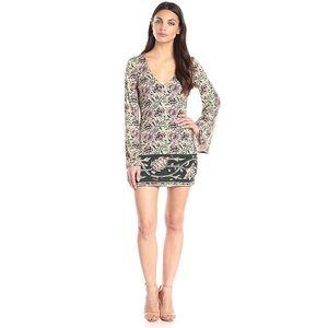 Chaser - Tapestry Bell Sleeve Mini Dress